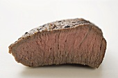 Beef steak with a piece cut off