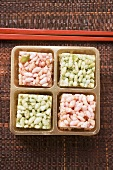 Puffed rice sweets from Asia