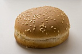 Hamburger roll with sesame
