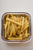 Chips in aluminium tray