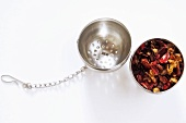 Fruit tea in tea-ball