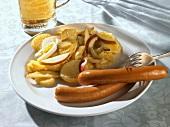 Frankfurters with potato salad