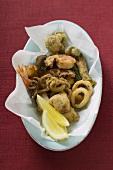 Deep-fried seafood (Liguria)