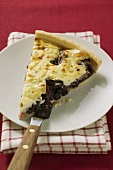 Piece of radicchio tart (Veneto)
