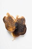 Slices of burnt toast
