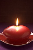 Red candle for Valentine's Day