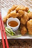 Asiatische Chicken Nuggets mit Aprikosensauce