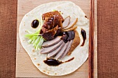 Peking duck (overhead view)