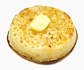 Toasted crumpet with butter