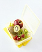 Lunch box with fresh fruit