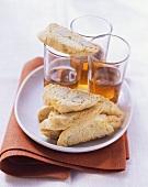 Biscotti di Prato e Vin Santo (Almond biscuits & dessert wine)