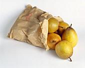 Paper bag of 'Passa Crassana' pears