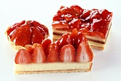 Strawberry slices and strawberry tarts