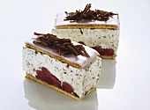 Cherry slices, in the style of Dutch cherry gateau