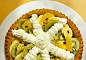 Fruit salad tart