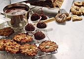 Pralines; Cookies and Chocolate Covered Cherries with Ingredients