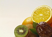 Three assorted tropical Fruits