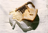 A Piece of Parmesan with Grater