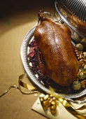 Roast Duck with Red Cabbage; Apples; Bacon Dumpling and Chanterelles