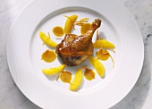 Duck Leg with Orange Sauce