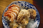 Oysters on Ice & boiled Shrimp