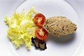 Entenlebercreme mit Trüffeln & Salatgarnitur