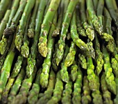Green asparagus spears (filling the picture)