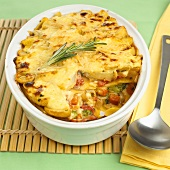 Vegetarian lasagne in baking dish