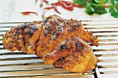 Barbecued chicken with spicy seasoning