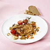 Veal fillet in tomato and mustard sauce