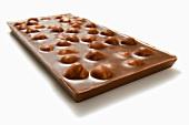 A bar of nut chocolate