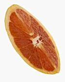 Ein roter Grapefruitschnitz