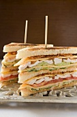 Club sandwiches with chicken breast