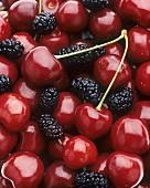 Cherries and mulberries (full-frame)