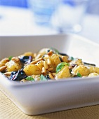 New potato salad with pine nuts and basil