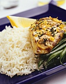 Lemon and thyme chicken with rice