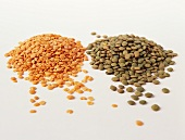 Red and green lentils