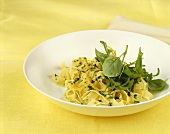 Pasta with herbs and lemon