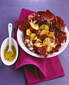Winter salad: radicchio with swede