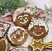 Amusingly decorated 'Braune Kuchen' (biscuits from Hamburg)