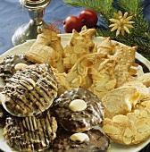 Spekulatius cookies and chocolate Lebkuchen