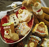 Assorted Christmas gingerbread biscuits