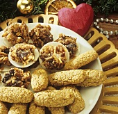 Fruit and nut clusters and sunflower biscuits