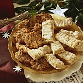 Florentine biscuits and almond bars for Christmas