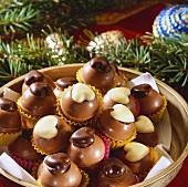 Elegant chocolate truffles