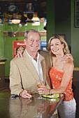 Mature couple in a pub