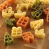 Christmas pasta shapes