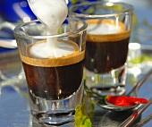 Two espresso macchiato