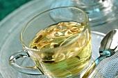 A cup of lemon grass tea