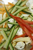Vegetable sticks (ingredients for pasta salad)